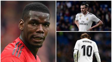Real Madrid harus menjual sejumlah pemainnya untuk menyeimbangkan neraca keuangan jika ingin mendatangkan Paul Pogba dari Manchester United. Berikut tujuh pemain yang kemungkinan dilego oleh Zinedine Zidane. (Kolase foto AFP)