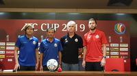 Konferensi pers menjelang laga Persija Jakarta versus Shan United, di Stadion Utama Gelora Bung Karno (SUGBK), Selasa (14/5/2019)