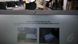 Laptop yang disita KPK dari dua terdakwa penyimpangan proyek pembangunan pusdiklat Bapeten, Sugiyo Prasojo dan Hieronimus Abdul Salam, Jakarta, Rabu (12/11/2014). (Liputan6.com/Miftahul Hayat)