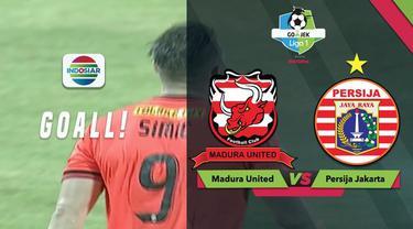 Berita video momen gol Marko Simic yang mengantarkan Persija Jakarta menang 1-0 atas Madura United dalam lanjutan Gojek Liga 1 2018 bersama Bukalapak, Minggu (14/10/2018).