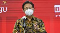 Menteri Kesehatan RI Budi Gunadi Sadikin memberikan keterangan pers usai Rapat Terbatas mengenai Penanganan Pandemi COVID-19, di Kantor Presiden Jakarta, Senin (3/5/2021). (Biro Pers Sekretariat Presiden)