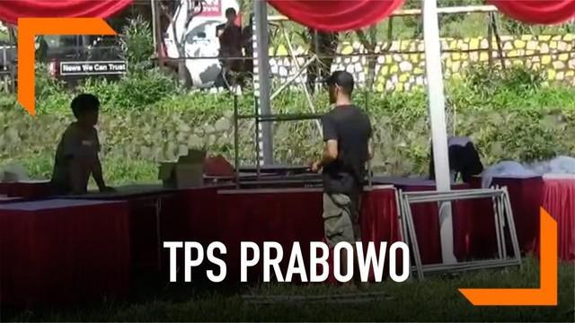 Calon Presiden Prabowo Subianto akan memberikan hak suaranya di TPS 41, desa Bojong Koneng, Bogor, Jawa Barat. Ia direncanakan menyoblos pada pukul 08.00 WIB.