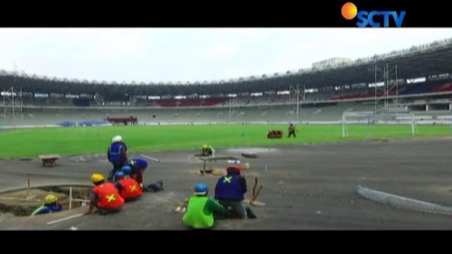 Hendak digunakan untuk perhelatan ASEAN Games 2018, renovasi di GBK hampir rampung.
