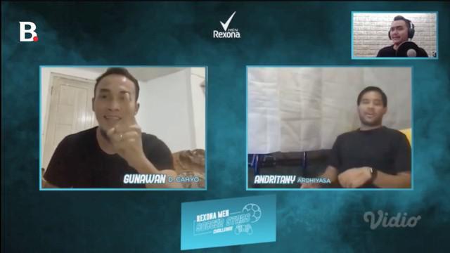 Berita video melihat adu psywar antara Gunawan Dwi Cahyo dengan Andritany ketika berlaga pada episode 4 Rexona Men Soccer Stars Challenge.