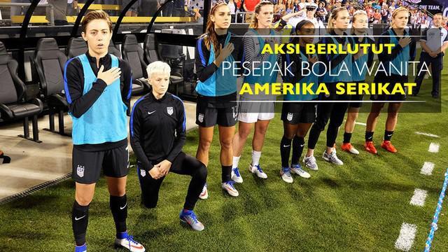 Video aksi berlutut pesepak bola wanita Amerika Serikat, Megan Rapinoe, sebelum laga melawan Thailand.