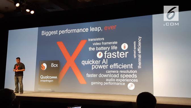 Qualcomm umumkan Snapdragon 8cx. Liputan6.com/ Agustinus Mario Damar