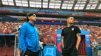 Dejan Lovren dan pelatih timnas Kroasia, Zlatko Dalic. (doc. HNS)