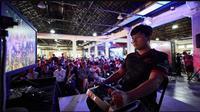 Atlet Tekken 7 asal Thailand, Nopparut Hempamorn, menjadi pemenangan di SEA Games 2019.  (FOTO / Bangkok Post)