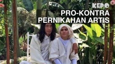 Pernikahan yang semestinya menjadi momen bahagia beberapa pasangan selebritas ini harus dihiasi komentar miring masyarakat.