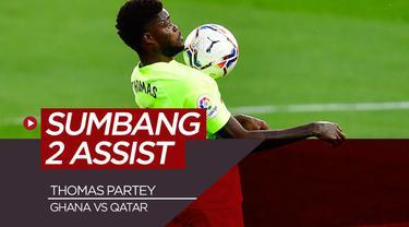 Berita Video pemain baru Arsenal, Thomas Partey cetak 2 assist saat Ghana kalahkan Qatar 5-1