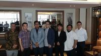 Konferensi pers pengumuman pelatih Tim Nasional Mobile Legends (Liputan6.com/Agustinus M.Damar)