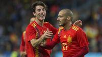 6. Alvaro Odriozola (Spanyol) - Secara mengejutkan bek Real Sociedad ini dipanggil ke Timnas Spanyol untuk Piala Dunia 2018. Namun talentanya sudah tercium ole MU untuk dijadikan suksesor bagi Antonio Valencia. (AFP/Jorge Guerrero)