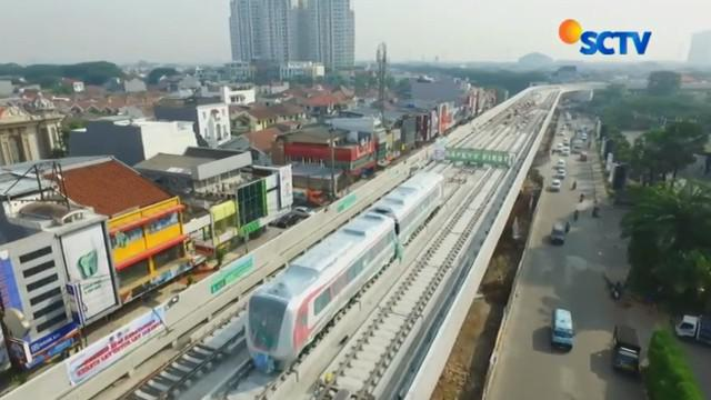LRT Jakarta fase 1 atau koridor 1 Jurusan Kelapa Gading-Velodrome akan melintasi enam stasiun layang