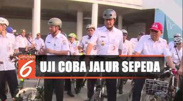 Pemprov DKI Jakarta menargetkan nantinya jalur sepeda di ibu kota akan mencapai total sepanjang 500 kilometer.