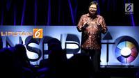 Menteri Perindustrian Airlangga Hartarto saat menjadi pembicara dalam acara Inspirato di SCTV Tower, Jakarta, Selasa (15/5). (Liputan6.com/JohanTallo)