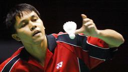 Sebelumnya Indonesia menjuarai Piala Thomas pada edisi tahun 2002 di Guangzhou, China, setelah mengalahkan Malaysia. (AFP/Peter Parks)