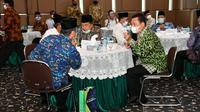 Ketua MPR RI Bambang Soesatyo saat menghadiri Milad ke-108 Persyarikatan Muhammadiyah, di Gedung Pusat Dakwah Muhammadiyah, Jakarta, Rabu (18/11/20).