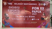 Eksibisi esports PON XX Papua 2021. (Liputan6.com/ Yuslianson)