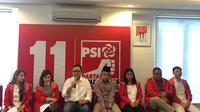 PSI memamerkan dua calegnya Rizal Cavalry, mantan wartawan bisnis dan Daniel Tumiwa, pakar bisnis sekaligus pegiat ekonomi digital. (Muhammad Radityo Priyasmoro)