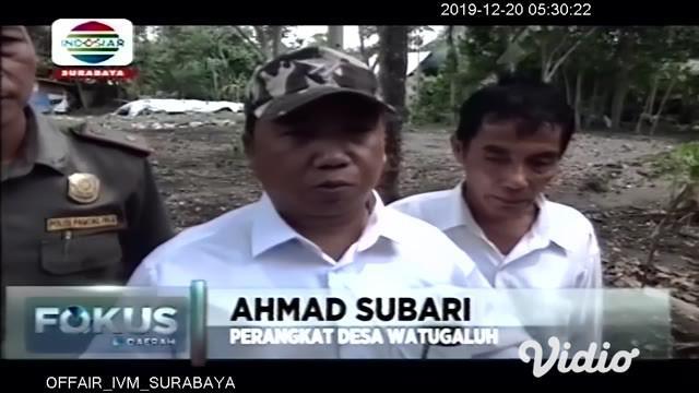 Sejumlah perangkat desa dibantu pawang ular berusaha menangkap seekor ular kobra sepanjang 1,5 meter yang bersembunyi di dalam tumpukan kayu di halaman rumah salah seorang warga.