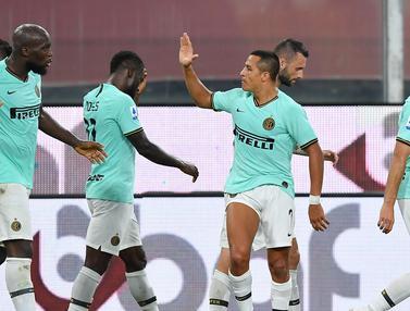 FOTO: Inter Milan Cukur Genoa 3-0