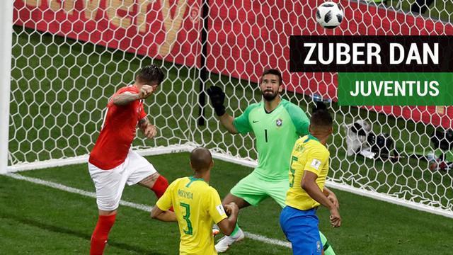 Berita video pemain Swiss yang bobol gawang Brasil di Grup E Piala Dunia 2018, Steven Zuber, ternyata pernah punya kisah dengan klub raksasa Serie A, Juventus.