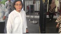 Sri Mulyani datangi Istana Kepresidenan. (Merdeka.com)