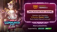 Live Streaming Vidio Community Cup Ladies Season 2 PUBGM Series 2 di Vidio, Rabu 30 Juni 2021. (Sumber : dok. vidio.com)