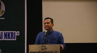 Ketua KEIN Soetrisno Bachir menyampaikan orasi ilmiahnya di acara Muzakarah Pemberdayaan Ekonomi Keumatan Dalam Bingkai NKRI di Kota Medan, Minggu (29/4/2018). (Foto: Liputan6.com/Reza Effendi)