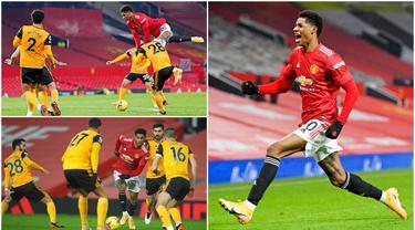 Marcus Rashford tampil apik sekaligus menjadi pahlawan usai gol semata wayangnya membawa Manchester United menaklukkan Wolverhampton Wanderers pada laga Liga Inggris. Kemenangan tersebut juga membuat Setan Merah bertengger di posisi ke dua klasemen Premier League.