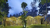 Rumah bambu di lereng Gunung Merbabu meraih penghargaan sebagai proyek residensial terbaik se-Asia dalam Arcasia Architecture Award 2016. (dok. budipradono.com)
