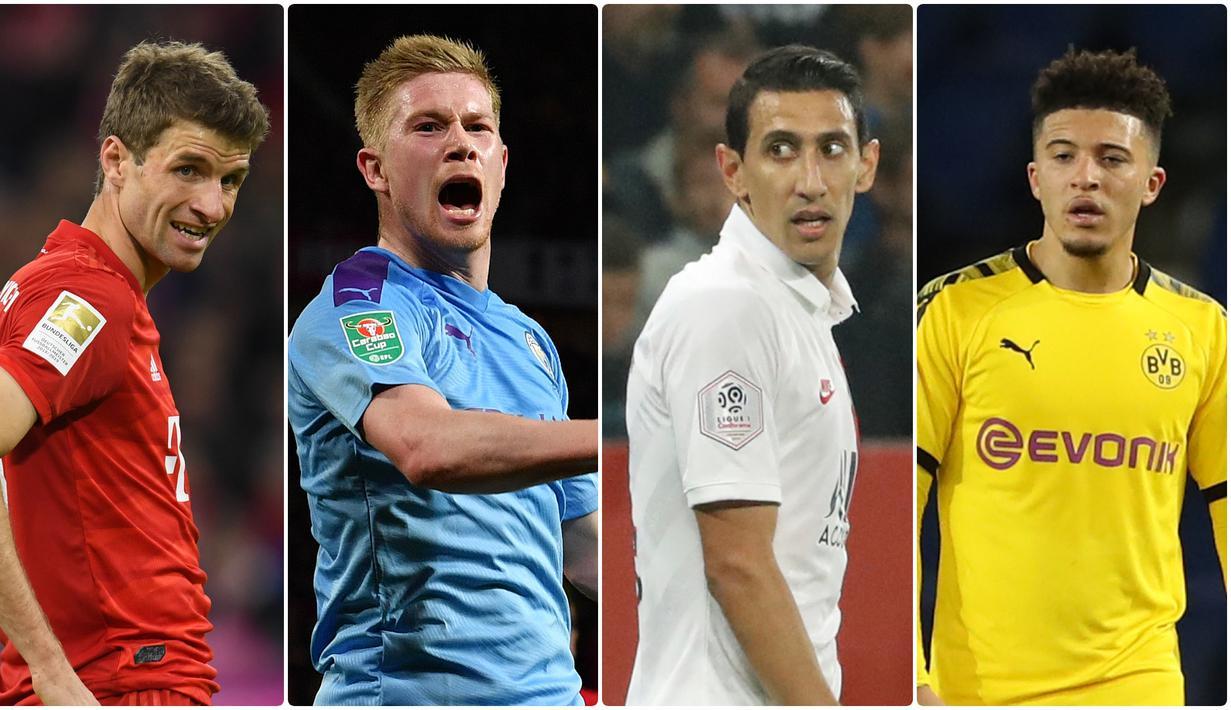 Banyak klub besar liga top Eropa merasa beruntung memiliki pemain yang pandai mencetak assist dan memberikan peluang untuk mencetak gol bagi para striker. Berikut lima pemberi assist terbanyak di liga top Eropa. (kolase foto AFP)
