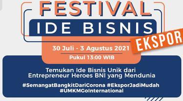 BNI Gelar Festival Ide Bisnis, 10 UMKM akan Berbagi Kiat Berbisnis hingga Ekspor