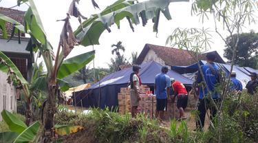 Gerakan tanah menyebabkan 79 jiwa mengungsi, di Karanggintung, Gandrungmangu, Cilacap. (Foto: Liputan6.com/BPBD Cilacap)