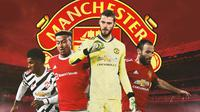 Manchester United - Juan Mata, Marcus Rashford, Jesse Lingard, David De Gea (Bola.com/Adreanus Titus)