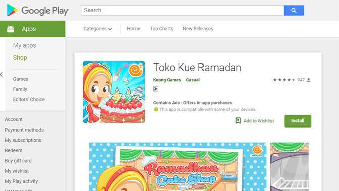 Aplikasi Toko Kue Ramadan. (Doc: Google Play Store)