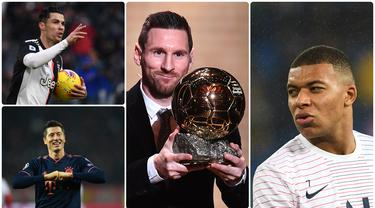 Lionel Messi kembali terpilih sebagai pemenang Ballon d'Or 2019, Messi akhirnya melewati pencapaian Cristiano Ronaldo usai mengumpulkan suara terbanyak pada pemilihan tahun ini. Berikut 10 pemain dengan voting tertinggi di ajang Ballon d'Or 2019. (Kolase foto AFP)