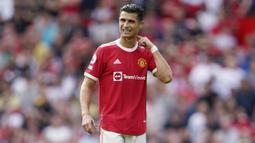 Pada laga ini sebenarnya Cristiano Ronaldo dan kawan-kawan tampil dominan dengan penguasaan bola mencapai 60 persen. (AP/Jon Super)