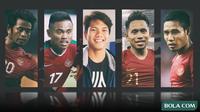 Trivia - Andik Vermansah, Evan Dimas, Saddil Ramdani, Achmad Jufriyanto, Ilham Udin (Bola.com/Adreanus Titus)
