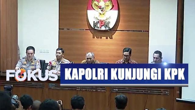 Kapolri Jendral Pol Idham Azis berkunjung ke KPK dan Kejaksaan Agung.