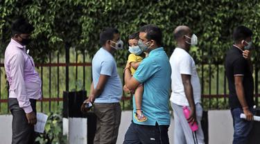FOTO: Infeksi COVID-19 di India Tembus 1 Juta Kasus