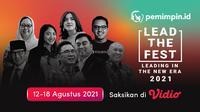 Acara tahunan Lead The Fest 2021 yang berlangsung pada 12-18 Agustus 2021 dapat disaksikan melalui platform streaming Vidio. (Dok. Vidio)