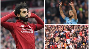 Mohamed Salah masih memimpin daftar pencetak gol terbanyak Premier League dengan torehan 22 gol. Berikut deretan top scorer Liga Inggris hingga pekan ke-37. (Kolase foto-foto dari AFP)