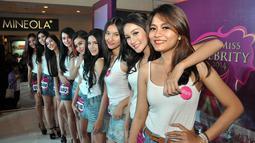 10 besar Miss Celebrity Jakarta 2014 akan digabung dengan 10 besar dari seluruh kota yang telah dilakukan audisi, (21/9/14). (Liputan6.com/Miftahul Hayat)