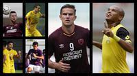 Duel antarlini PSM Makassar Vs Bhayangkara FC. (Foto Dok Bola.com)