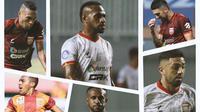 Kolase - Borneo FC: Terens Puhiri, Boaz Solossa, Jonathan Bustos (Bola.com/Adreanus Titus)
