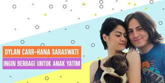 Kegiatan Dylan Carr-Hana Saraswati, ingin membagikan keceriaan untuk anak yatim di bulan Ramadan
