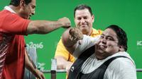 Siamand Rahman saat tampil di Paralimpiade Brasil 2016 (YASUYOSHI CHIBA / AFP)