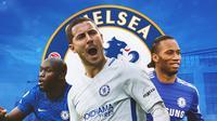 Chelsea - Romelu Lukaku, Eden Hazard, Didier Drogba (Bola.com/Adreanus Titus)