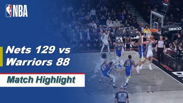 Berita Video Highlights NBA 2019-2020, Brooklyn Nets Vs Golden State Warriors 129-88